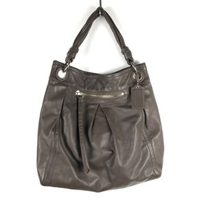 Coach Parker Large Hippie Hobo Bag Gray Leather